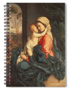 The Virgin And Child Embracing Spiral Notebook