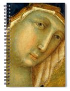 The Virgin And Child On A Throne Fragment 1311 Spiral Notebook