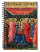 The Virgin And Child With Angels Spiral Notebook