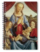 The Virgin And Child With Two Angels Spiral Notebook