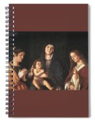 The Virgin And Child With Two Saints Prado Giovanni Bellini Spiral Notebook