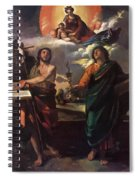 The Virgin Appearing To Saints John The Baptist And John The Evangelist 1520 Spiral Notebook