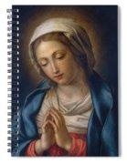 The Virgin At Prayer Spiral Notebook