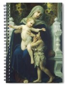 The Virgin Baby Jesus And Saint John The Baptist Spiral Notebook