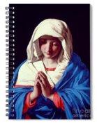 The Virgin In Prayer Spiral Notebook