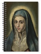 The Virgin Mary Spiral Notebook
