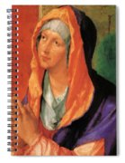 The Virgin Mary In Prayer Spiral Notebook