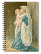 The Virgin Mary With Jesus Spiral Notebook