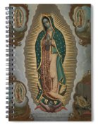 The Virgin Of Guadalupe With The Four Apparitions Spiral Notebook