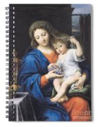 The Virgin Of The Grapes Spiral Notebook