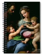 The Virgin Of The Rose Spiral Notebook
