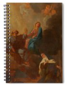The Virgin Placing St Teresa Under The Protection Of St Joseph Spiral Notebook
