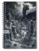 The Vision Of The Valley Of Dry Bones 1866 Spiral Notebook