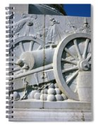 The Vittorio Emanuele Monument Marble Relief Of A Canon Standards Rome Italy Spiral Notebook