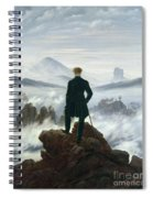 The Wanderer Above The Sea Of Fog Spiral Notebook