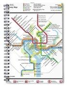 The Washington, D. C. Pubway Map Spiral Notebook