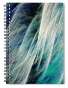 The Waterfall Abstract Spiral Notebook