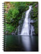 The Waterfall And Large Pool Of Vieiros Spiral Notebook