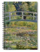 The Waterlily Pond With The Japanese Bridge Spiral Notebook