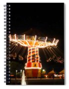 The Wave Swinger Ride Navy Pier Chicago Spiral Notebook