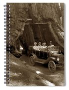 The Wawona Tree Mariposa Grove, Yosemite  Circa 1916 Spiral Notebook