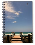 The Way Out To The Beach Spiral Notebook
