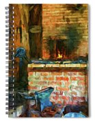 The Way We Were - The Blacksmith - Paint Spiral Notebook