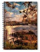 The Weir At Teddington Spiral Notebook