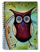 The Whimsical Owl Spiral Notebook