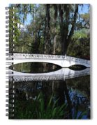 The White Bridge In Magnolia Gardens Charleston Spiral Notebook