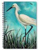 The White Egret Spiral Notebook
