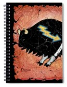 The White Sacred Buffalo Fresco Spiral Notebook