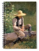 The Whittling Boy Spiral Notebook