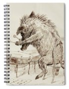 The Wild Boar Spiral Notebook