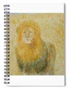 The Wild  Lion Spiral Notebook