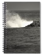 The Wild Pacific In Black And White Spiral Notebook