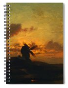 The Windmill 1859 Spiral Notebook
