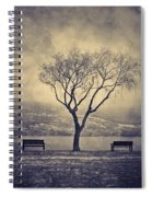 The Winter And The Benches Spiral Notebook