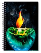 The Winter Of Fire And Ice Spiral Notebook