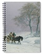 The Wintry Road To Market  Spiral Notebook