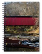 The Wissahickon Creek In Autumn - Thomas Mill Covered Bridge Spiral Notebook