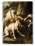 The Wolf Hunt Spiral Notebook
