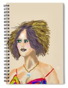 The Woman With Purple Hair Spiral Notebook