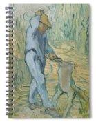 The Woodcutter After Millet Saint Remy De Provence September 1889 Vincent Van Gogh 1853  1890 Spiral Notebook