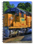 The Workhorse Squaw Creek Southern Rail Road Locomotive Art Spiral Notebook