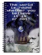 The World Is Round Spiral Notebook