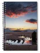 The Wreck Of The Helvetia And Worms Head Spiral Notebook