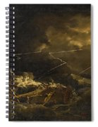 The Wreck Of The H.m.s. Deal Castle Off Puerto Rico During The Great Hurricane Of 1780 Spiral Notebook