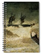 The Wreck Of The Iron Cloud, 1881 Spiral Notebook