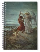 The Wrestle Of Jacob 1855 Spiral Notebook